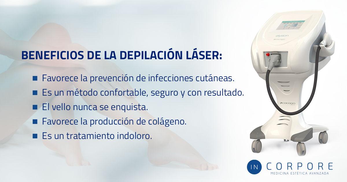 Depilación láser beneficios